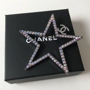 Chanel Rhinestone Star Brooch